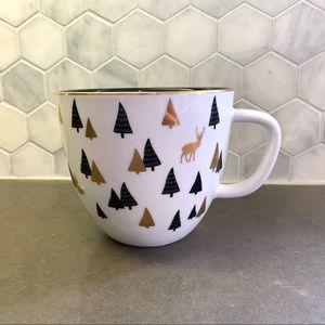 David's Tea Deer Latte Mug Christmas 18oz